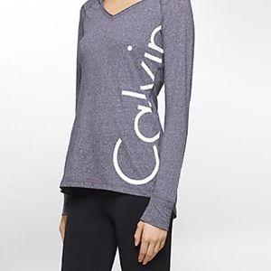 Calvin Klein Performance V-Neck Logo Tee